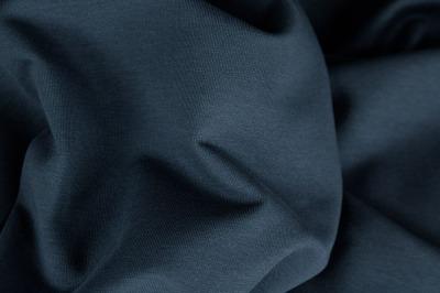 70462 Sweat Ganzjahressweat jeansblau uni angerauht