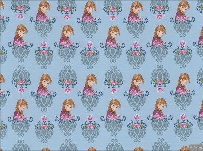 70471 Sweat French Terry Anna & Elsa Frozen süss hellblaugrundig