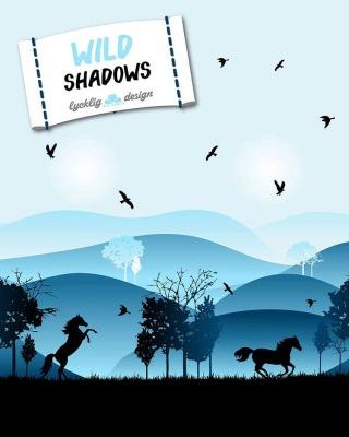 70505 Wild Shadows by Lycklig Design, Pferde blau