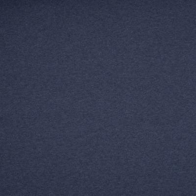70522 French Terry Sommersweat unangerauht dunkelblau meliert melange