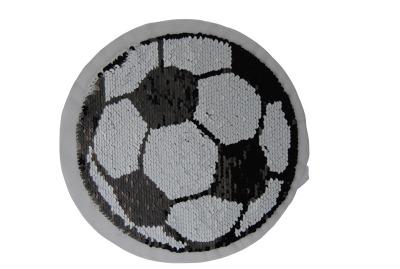 100001 Fussball schwarz / weiss zum aufnähen