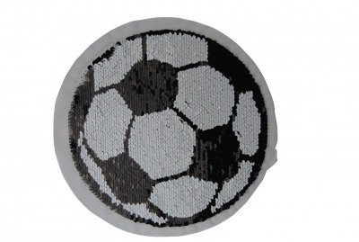 100001 Fussball schwarz weiss zum aufnähen