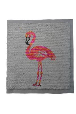 100003 Flamingo gold / silber / apricot zum aufnähen