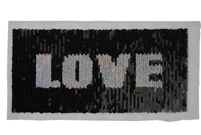 Love schwarz / weiss / regenbogen zum aufnähen