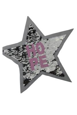 Stern Hope gold / schwarz und silber/rosa zum aufnähen