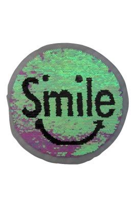 Smile perlmutt/schwarz und multiglitzer/pink zum aufnähen