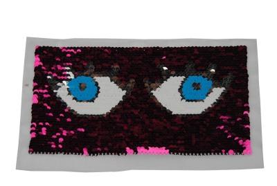 Augen pink / weiss / blau und silber zum aufnähen