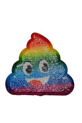 Kackihaufen regenbogenfarben zum aufnähen