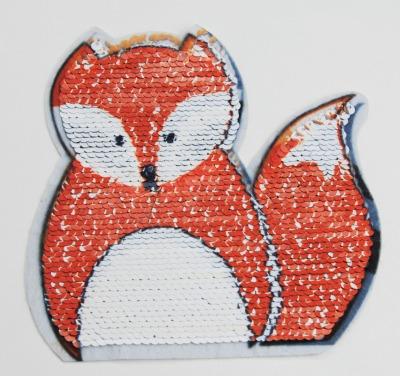Fuchs und Waschbär orange / weiss und grau / weiss zum aufnähen