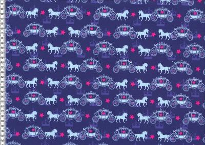 60193 Jersey Stretch Pferde dkl.blau pink