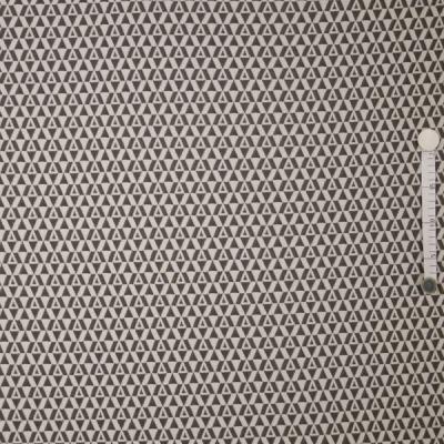 60236 Jersey Jacquard Dreiecke Rauten grau