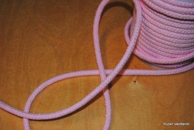 3460 Baumwollkordel Kordel 8mm dick rosa