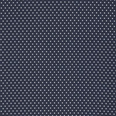 60249 Jersey Stretch Punkte Dots marine weiß