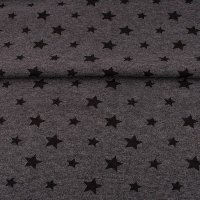 60250 Bündchen Sternenbündchen Sterne dunkelgrau