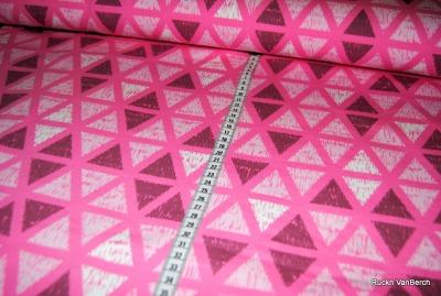 70033 Sweat Sweatshirt Dreiecke rosa pink berry