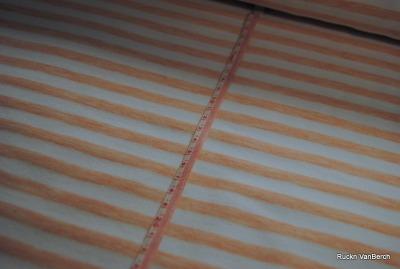 7644 Sweat French Terry Vintage Ringel rosa neu