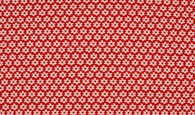50034 Baumwolle Stoff Daisy Blumen rot