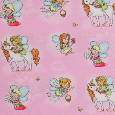 60557 Jersey Stretch Einhörner Prinzessin Feen