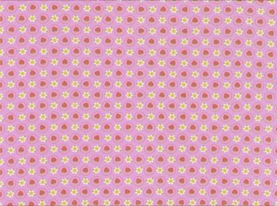 60569 Jersey Stretch Erdbeere Sommer Flower rosa