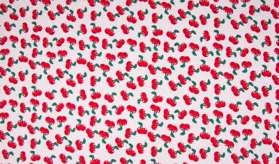 60579 Jersey Stretch Stoff Kirsche Cherry Sommer
