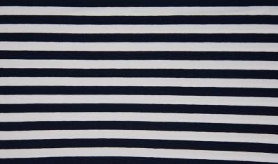 60580 Jersey Stretch Ringel Streifen navy weiß marine