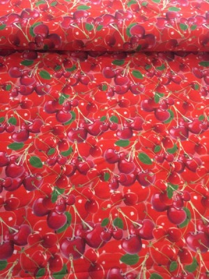 60595 Jersey Stretch Kirschen Cherry Sommerzeit