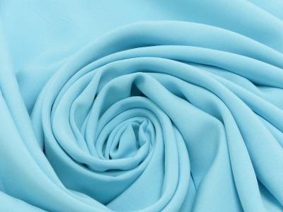 80069 Stoff Viscose Viskose Bluse hellblau neu