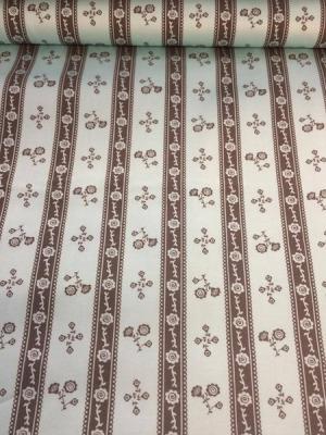 50099 Baumwolle Satin Trachten Rosen grau