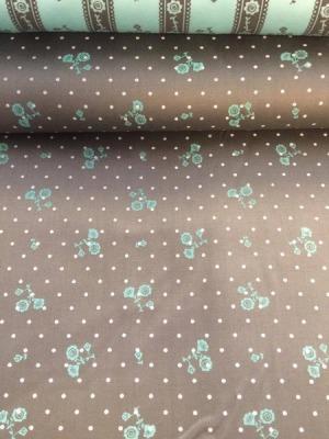 50101 Baumwolle Satin Trachten Rosen grau