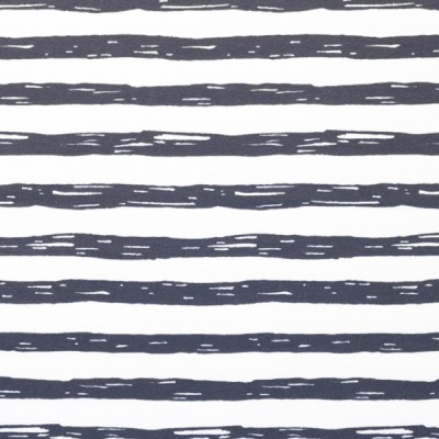 60628 Jersey Stretch Ringel Streifen dunkelgrau weiß