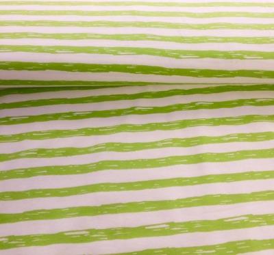 60626 Ringeljersey Streifen apfelgrün weiß neu