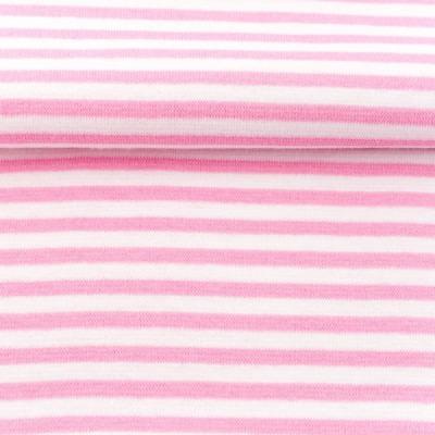 60636 Ringelbündchen Bündchen rosa weiss