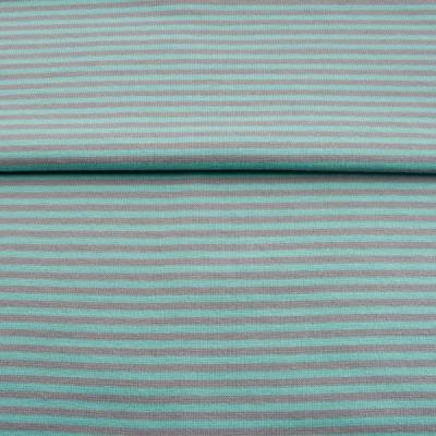60637 Ringelbündchen Bündchen mint grau
