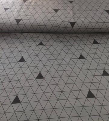 60668 Jersey Stretch Dreiecke grau schwarz