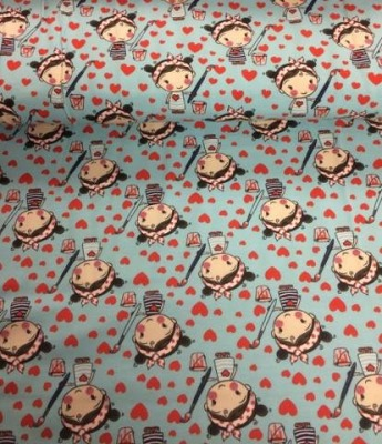 60701 Jersey Stretch Stoff Lovely Girls türkis