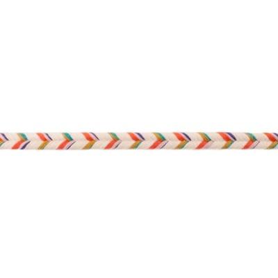 20336 Baumwollkordel Kordel 10mm creme lila