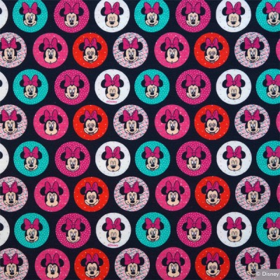 60792 Jersey Stoff Stretch Minnie Mouse Kreis