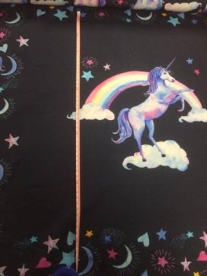70366 Sweat angerauht Einhorn Unicorn Regenbogen