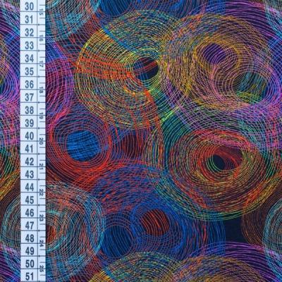 60794 Jersey Stretch Digitaldruck Circles multi