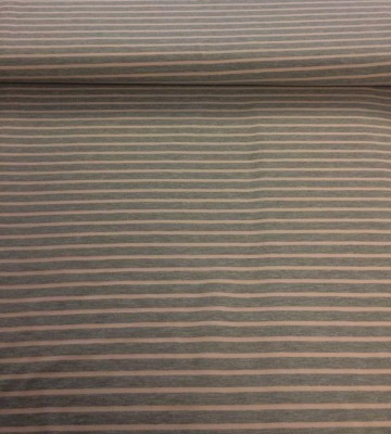 60797 Jersey Stretch Ringel Streifen hellgrau meliert rosa