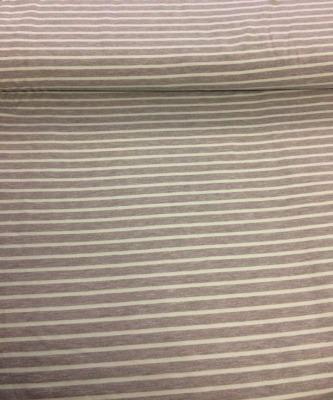 60798 Jersey Stretch Ringel Streifen hellgrau meliert mint