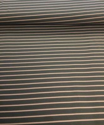 70370 Sweat French Terry Ringel Stripe grau rosa