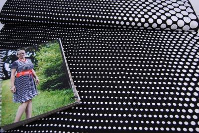 60830 Viscosejersey Selina Dots schwarz weiss