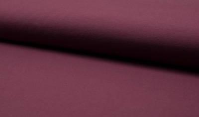 60862 Jersey Baumwolljersey Stretch bordo uni