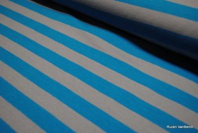 6036 Jersey Stretch Blockstreifen Streifen Ringel türkis grau