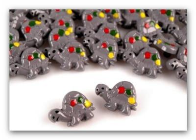 2064 5 Schildkröten Knöpfe