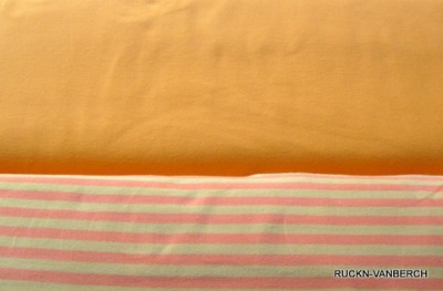 6265 Campanino Jersey Stretch Ringel Streifen gelb orange