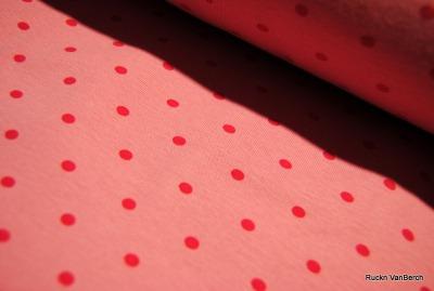 6263 Bündchen Schlauchware Punkte Dots rosa
