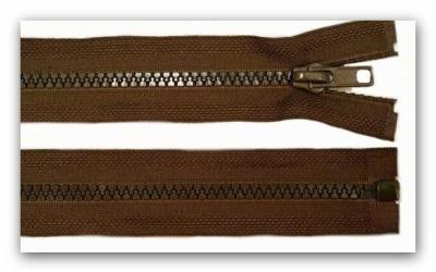 20198 Reißverschluss dunkelbraun 45cm teilbar für Jacken