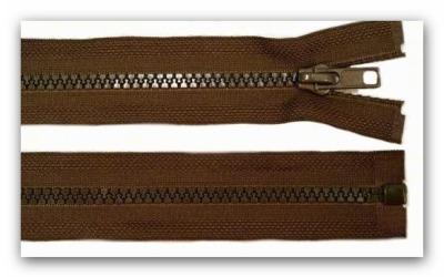 20213 Reißverschluss dunkelbraun 55cm teilbar für Jacken